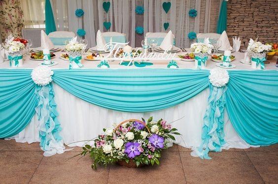 """74bf1aba6e51 Matrimonio color Tiffany  un """"evergreen"""" per i mesi più caldi ..."""