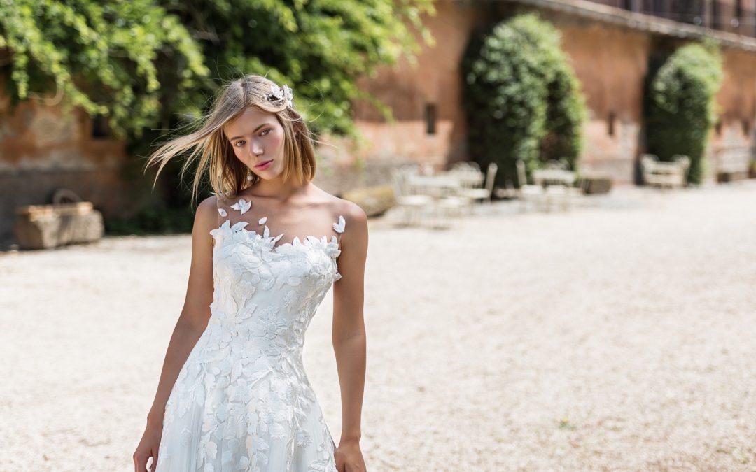 Scelto per te: abito da sposa vaporoso con decorazioni in pizzo